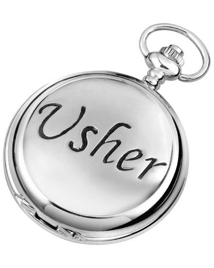 'Usher' Quartz Pocket Watch with Chain
